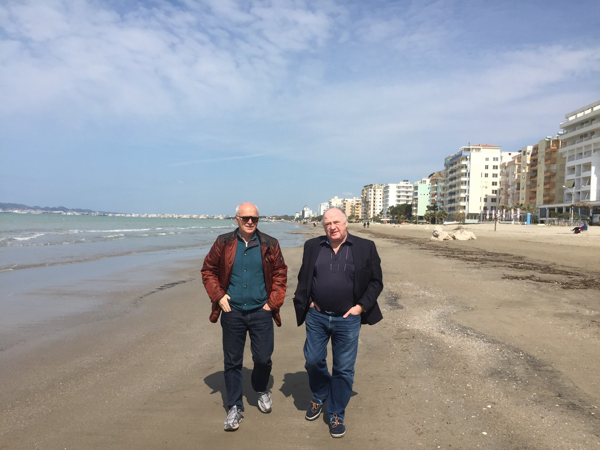 Paul with his good friend Rasim in  SarandaAlbania
