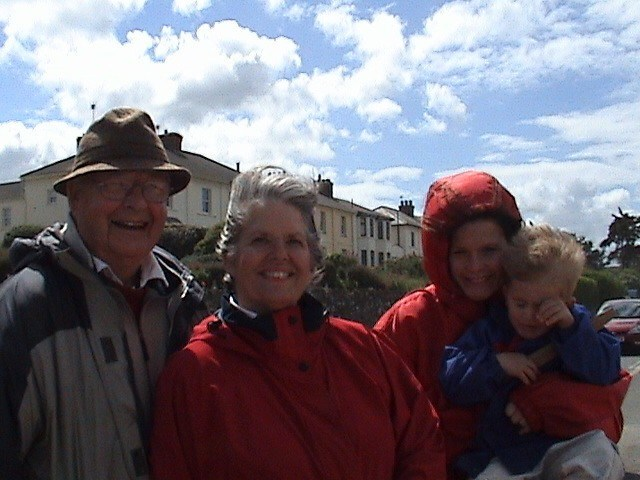 Dad, Mum, Sophie, Josh at Instow May 2005