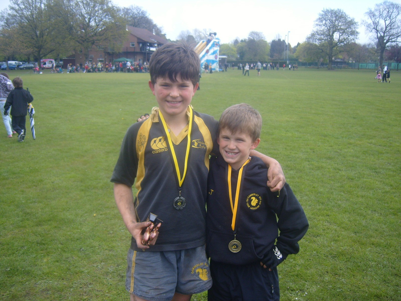 Ben and Josh at Camberley - Medal and Trophy Winners!