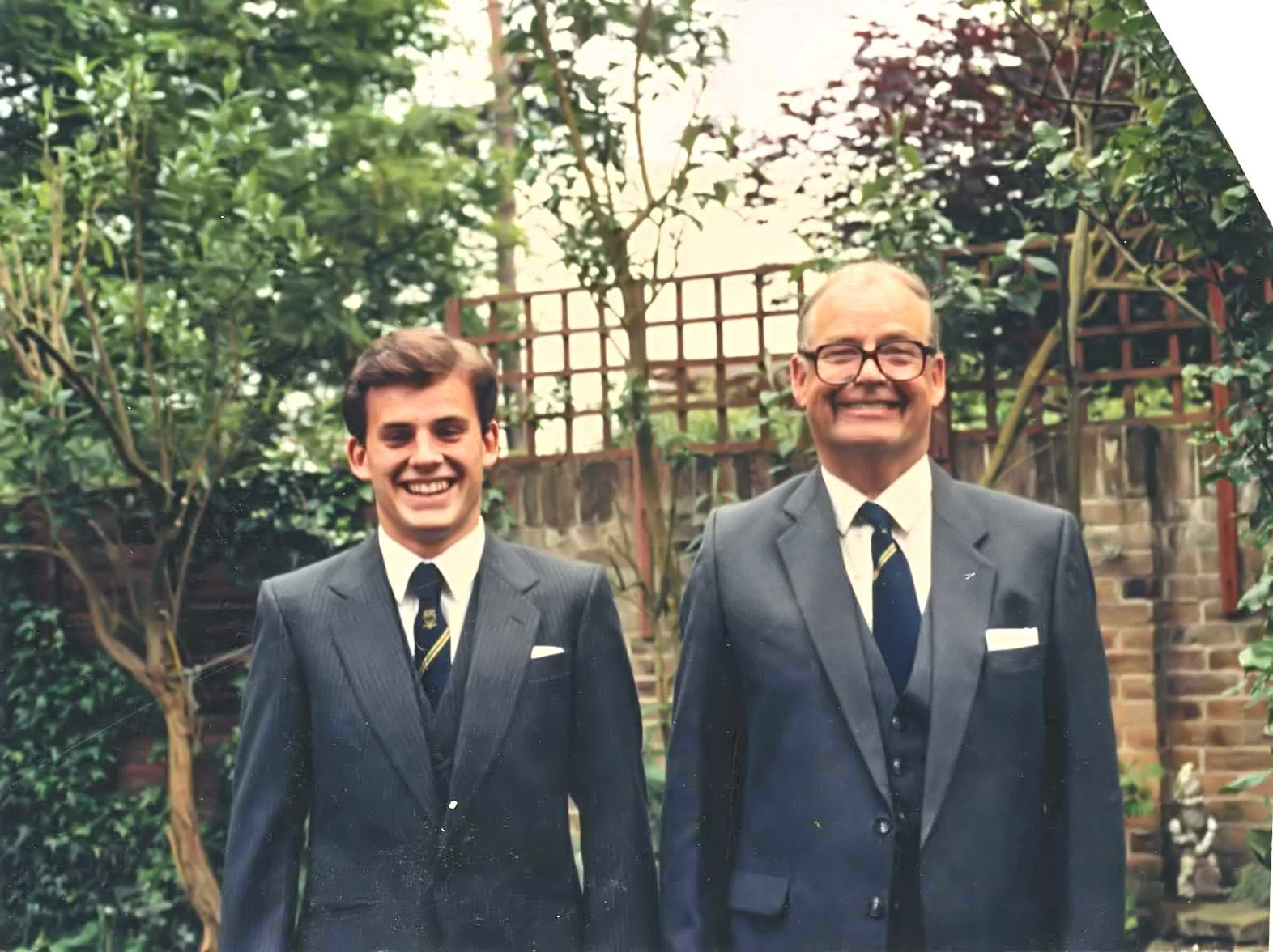 Justin and Dad go to the rugby club Annual Dinner 1987