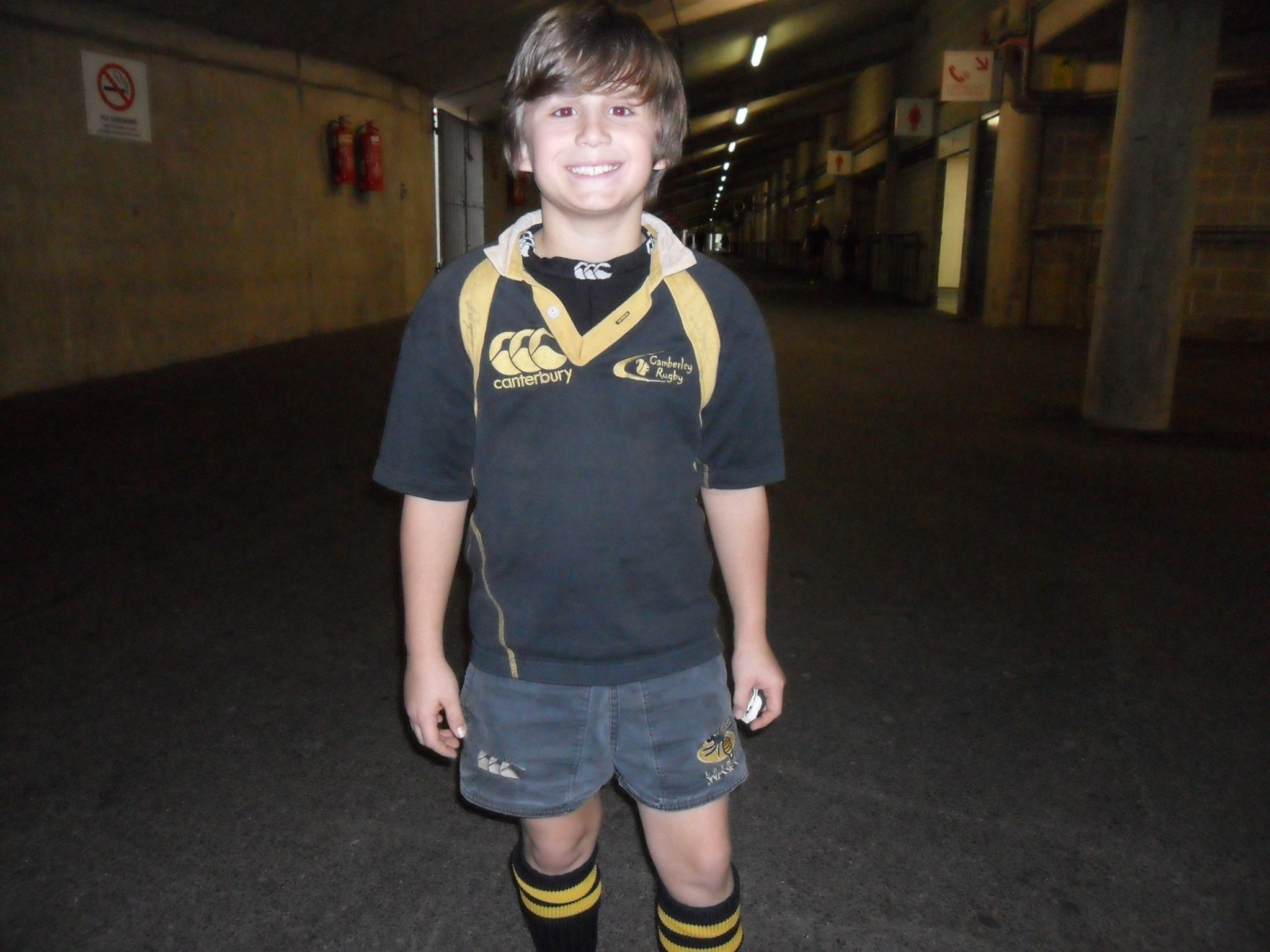 Josh after playing at Twickenham