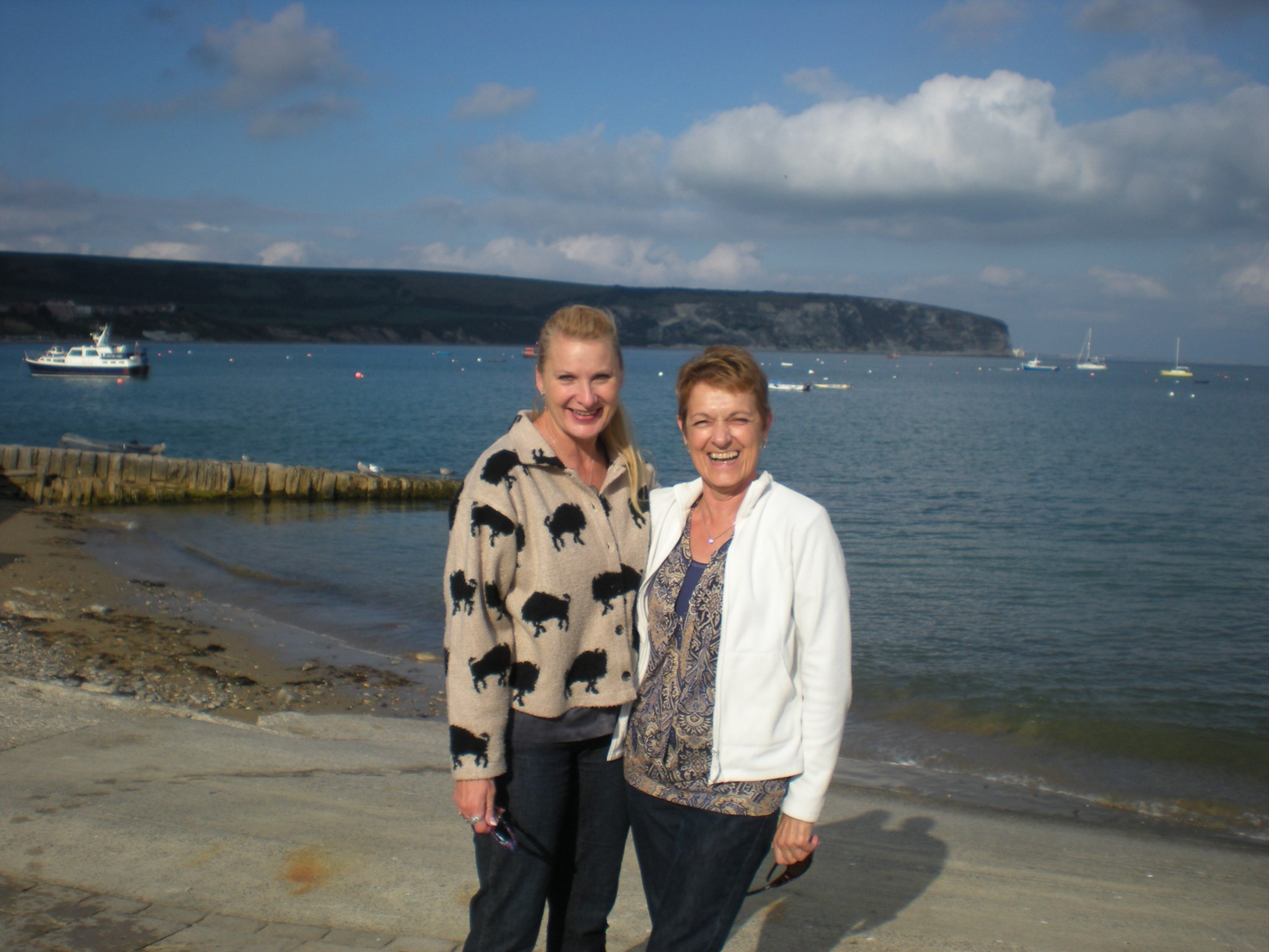 WIth Mandy, in Swanage