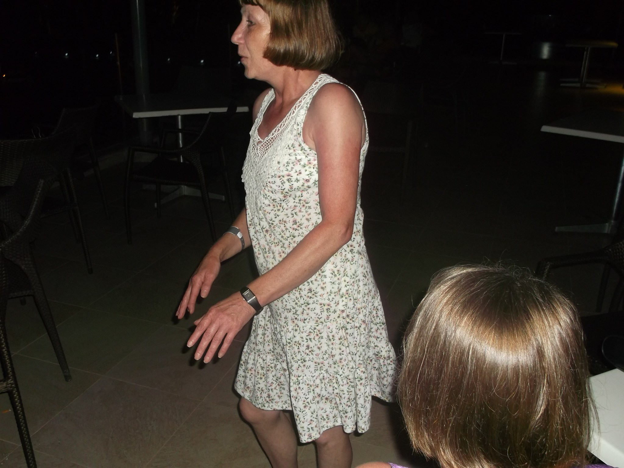 Ann showing off her dance moves in Tunisia!