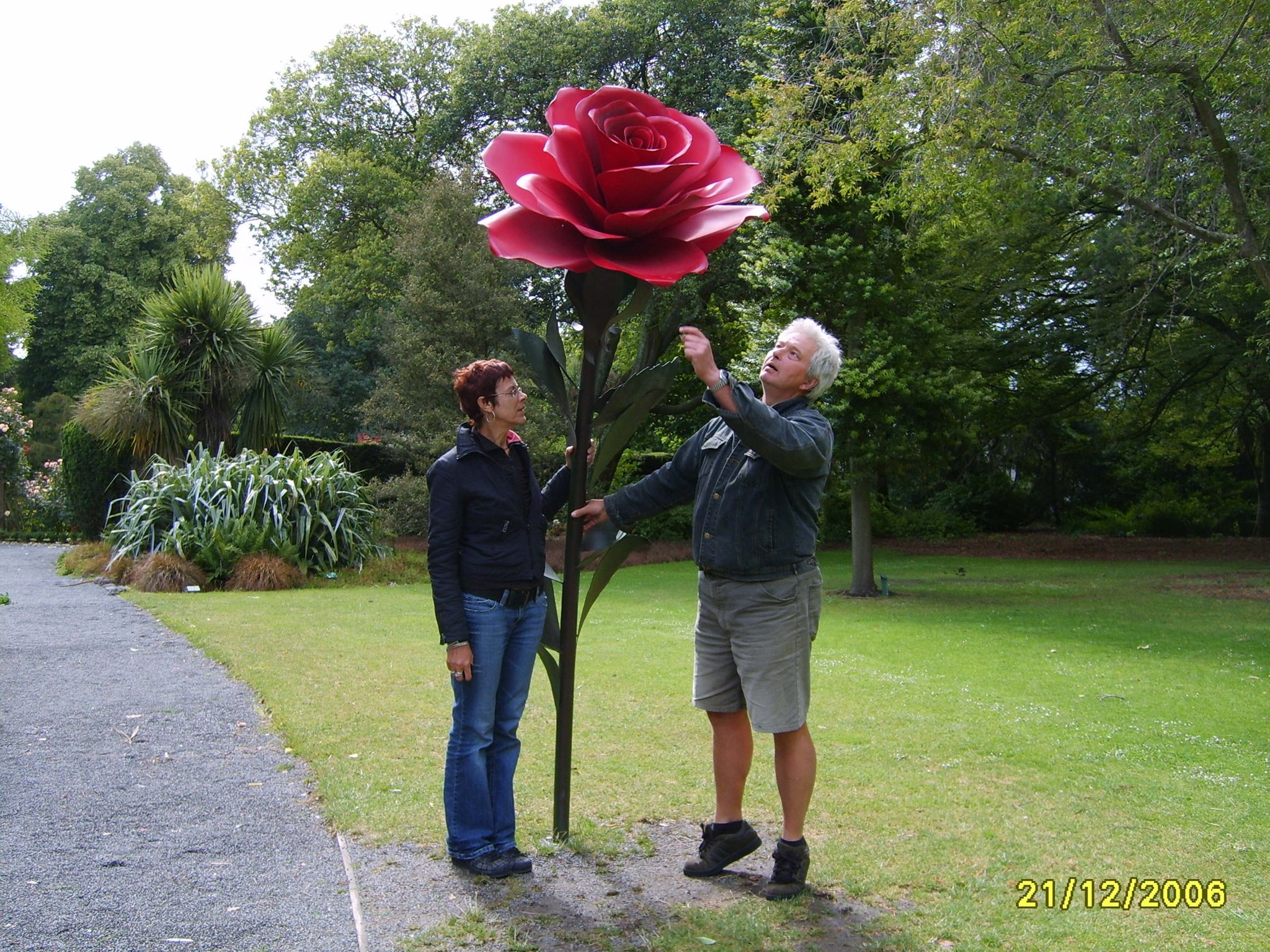 A rose for my true love. Love Roger x??