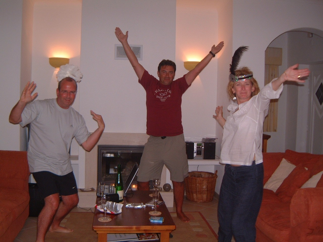 Dancing to YMCA. One of many great days and nights   Yes, Martin is wearing a tiara!