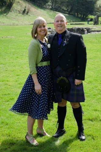 Looking awesome in a kilt. Loved that they all wore kilts as a surprise.