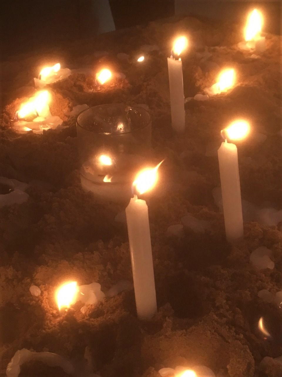 We lit a candle and offered up a prayer for you in Lincoln Cathedral on Saturday