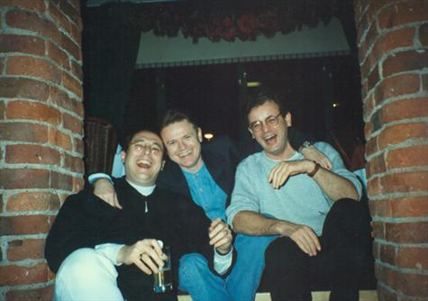 The 3 stooges after a couple of shandies 1996