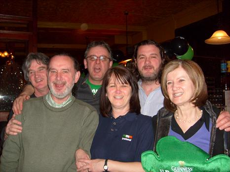 paddy's day 08 - possibly the last photo of the six of us together - happy days!