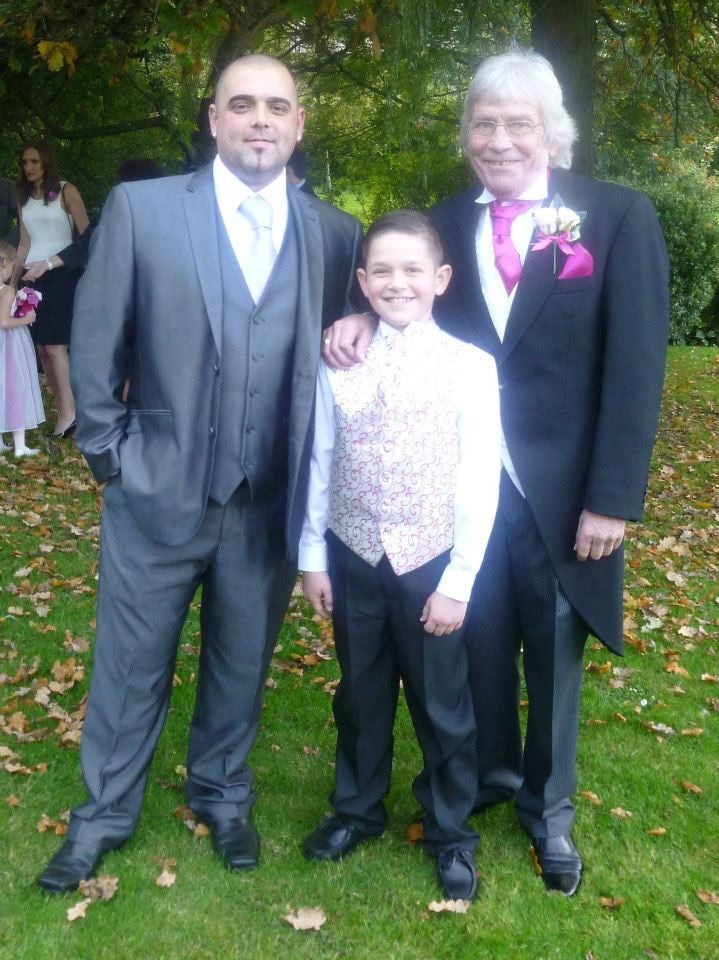 Dad with his son in law Jamie and grandson Cole. Xx????
