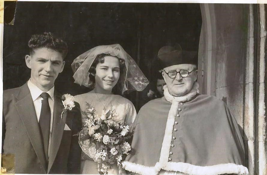 my mum and dad, Margaret and Bernard on their wedding day 28/2/1959