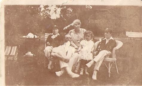 The Ryland family Mom Uncle Eric & Uncle Den with my Grandparents in aprox 1926