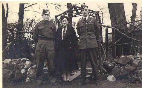 Mom with a little weight on with her brothers Den & Eric on leave from war duties in 1943