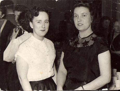 Mom and Eileen Stewart at The Maney Hill Road friday night dance