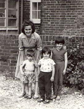 Glenys 1 of Mom freinds from childhood with 3 of her 4 children