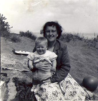 Mom and me when I was aprox 18 months old at Ilfracombe