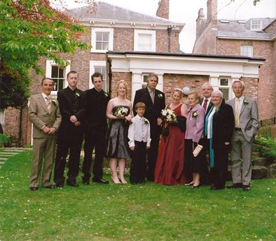 The immediate family at our wddding 5th May 2007
