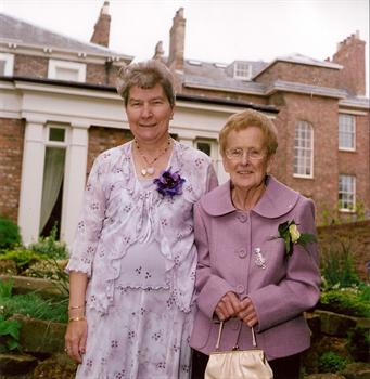 My Mom and Mom in Law at our wedding 5th May 2007. Mom (R) Jean Mom in Law (L)