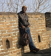 Leon on the Great Wall of China