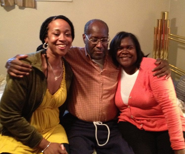 Leon with his nieces, Roxanne & Gena