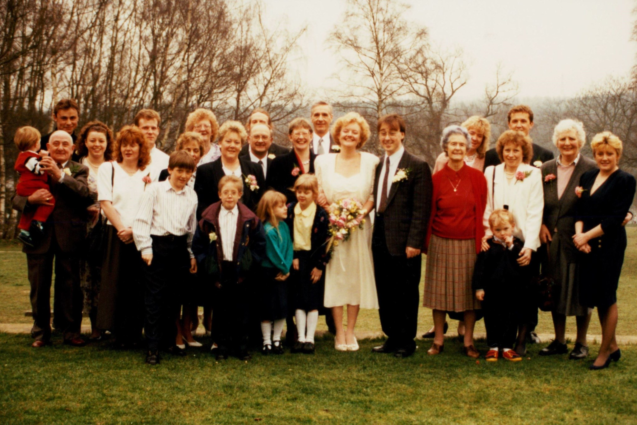 Some of the family - can you name them all? Can you spot Dad?