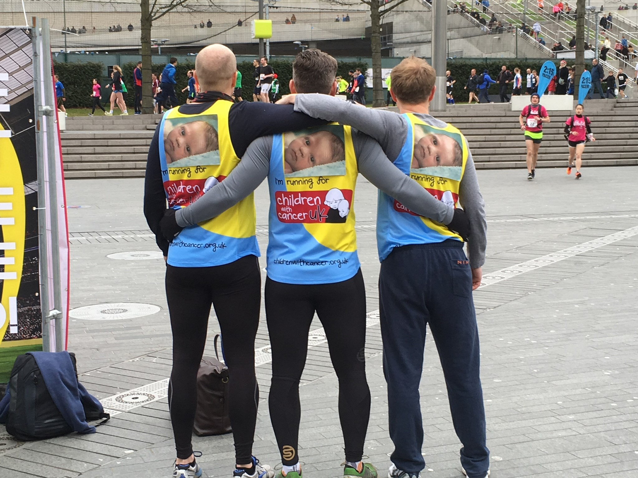 Daddy, Steve Rodgers and Steve Prance ran the half Marathon in your memory