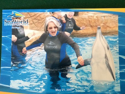 Dancing with Dolphins!  You're likely doing it for real now!  I miss you so.