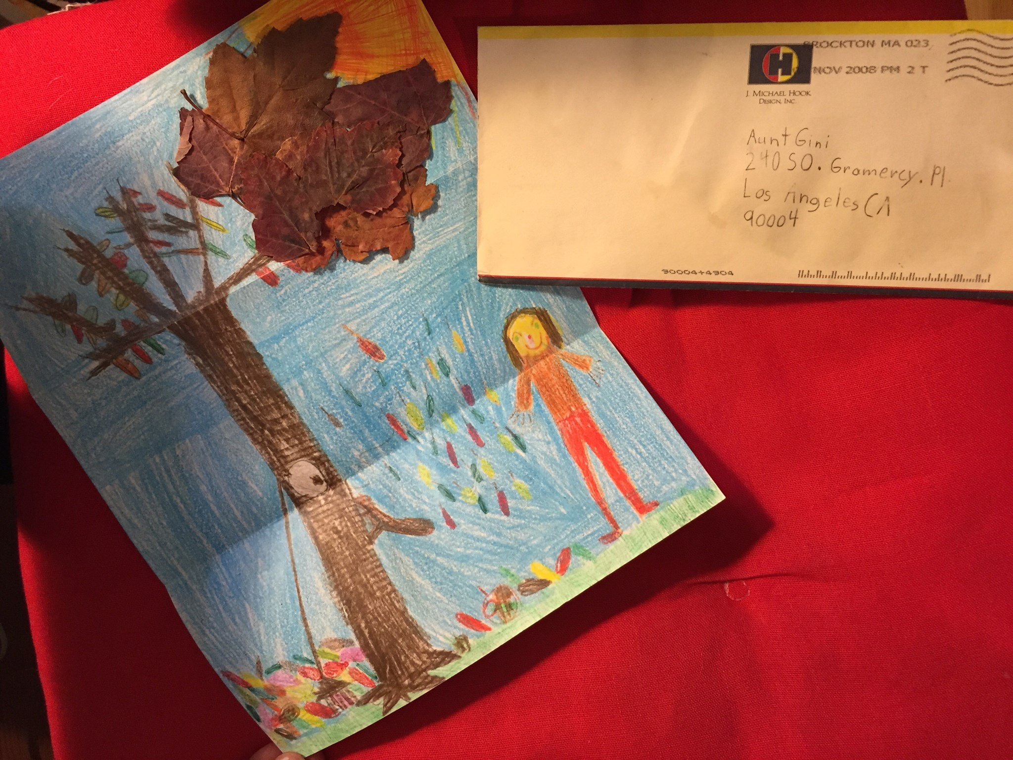 Envelope, Leaves, fall picture