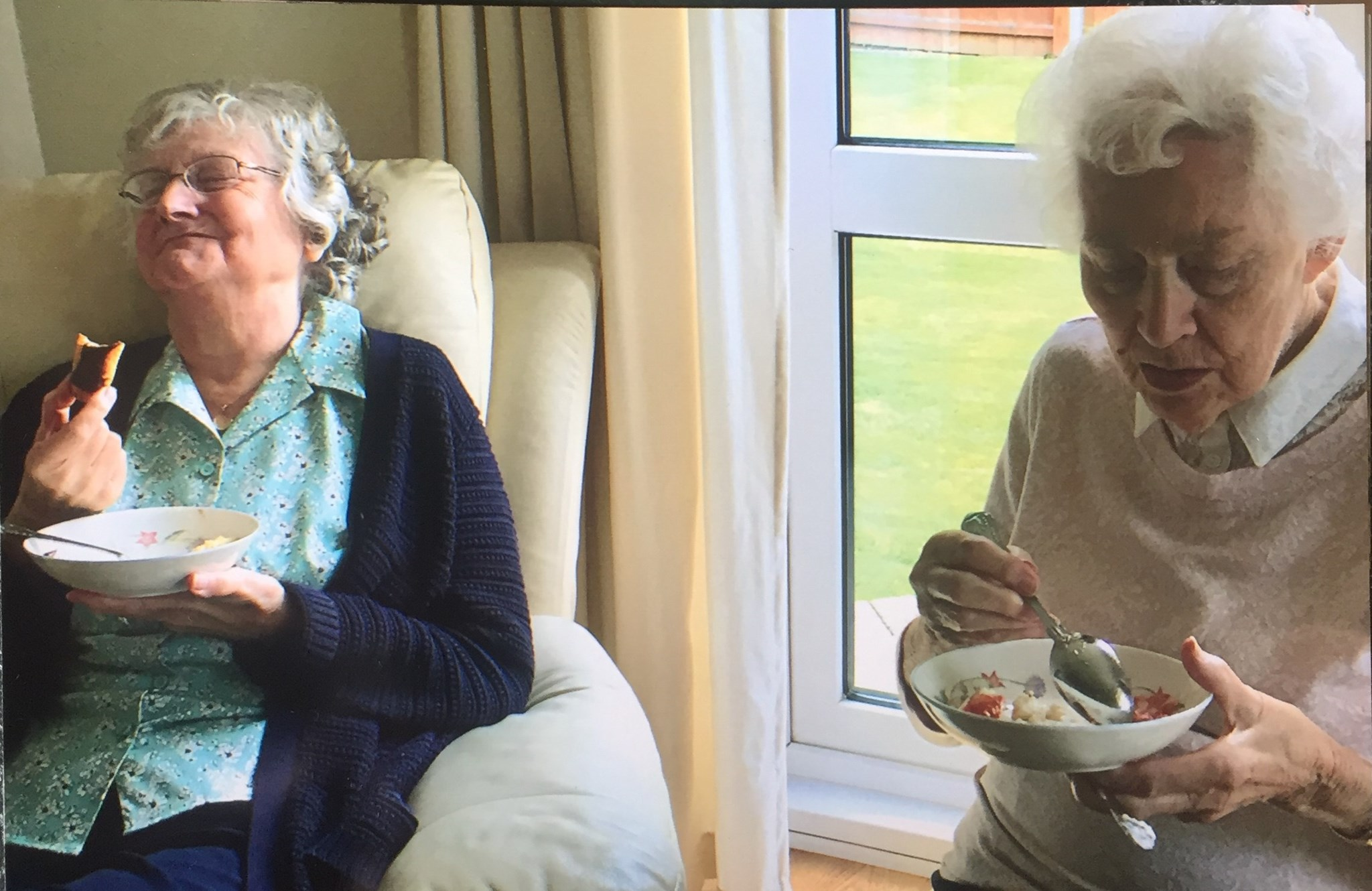 Mum and May enjoying something delicious and hilarious