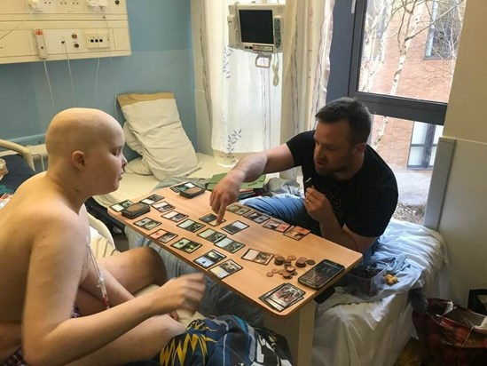 Playing Magic: The Gathering in Norfolk & Norwich hospital