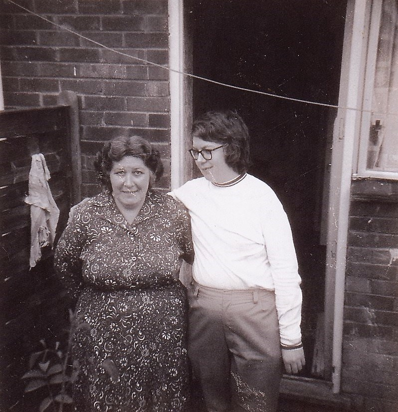 Mum with younger brother Keith