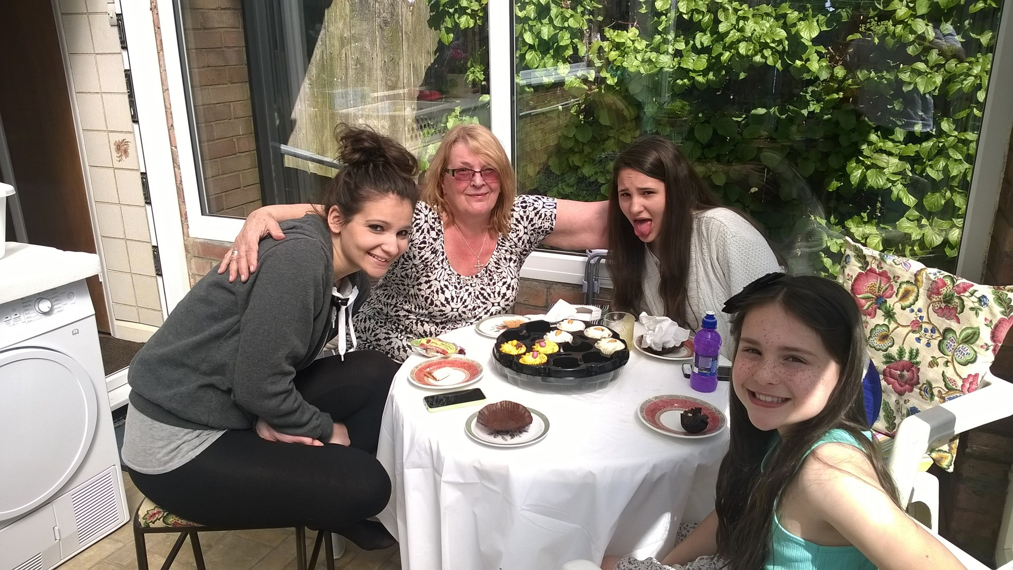 Uploaded for Ray. With her girls April 2014