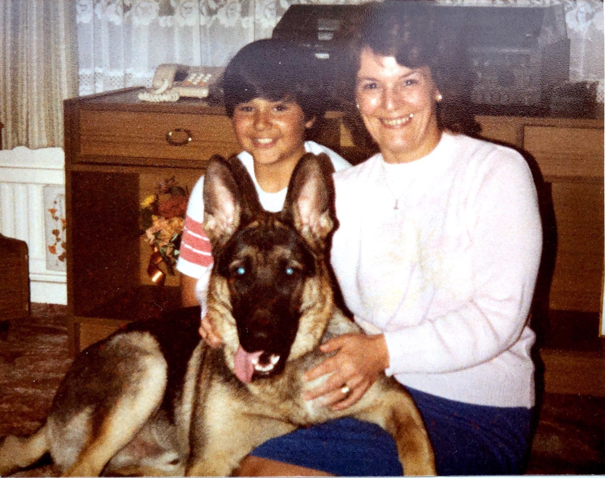 My mum, Sabre & me many moons ago circa 1985.  Love you mum xxx