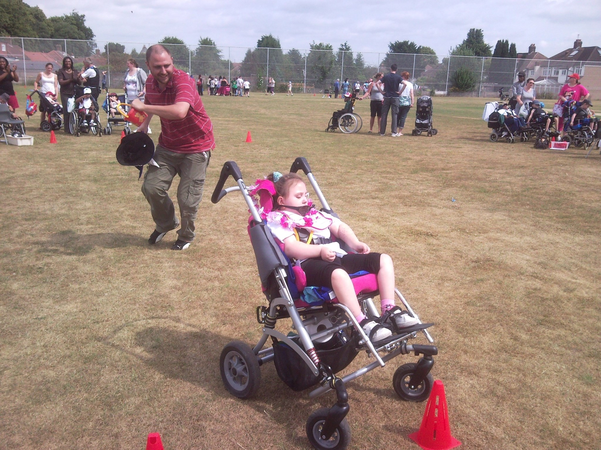 Jasmines sports day, shes so fast shes left Dave behind!