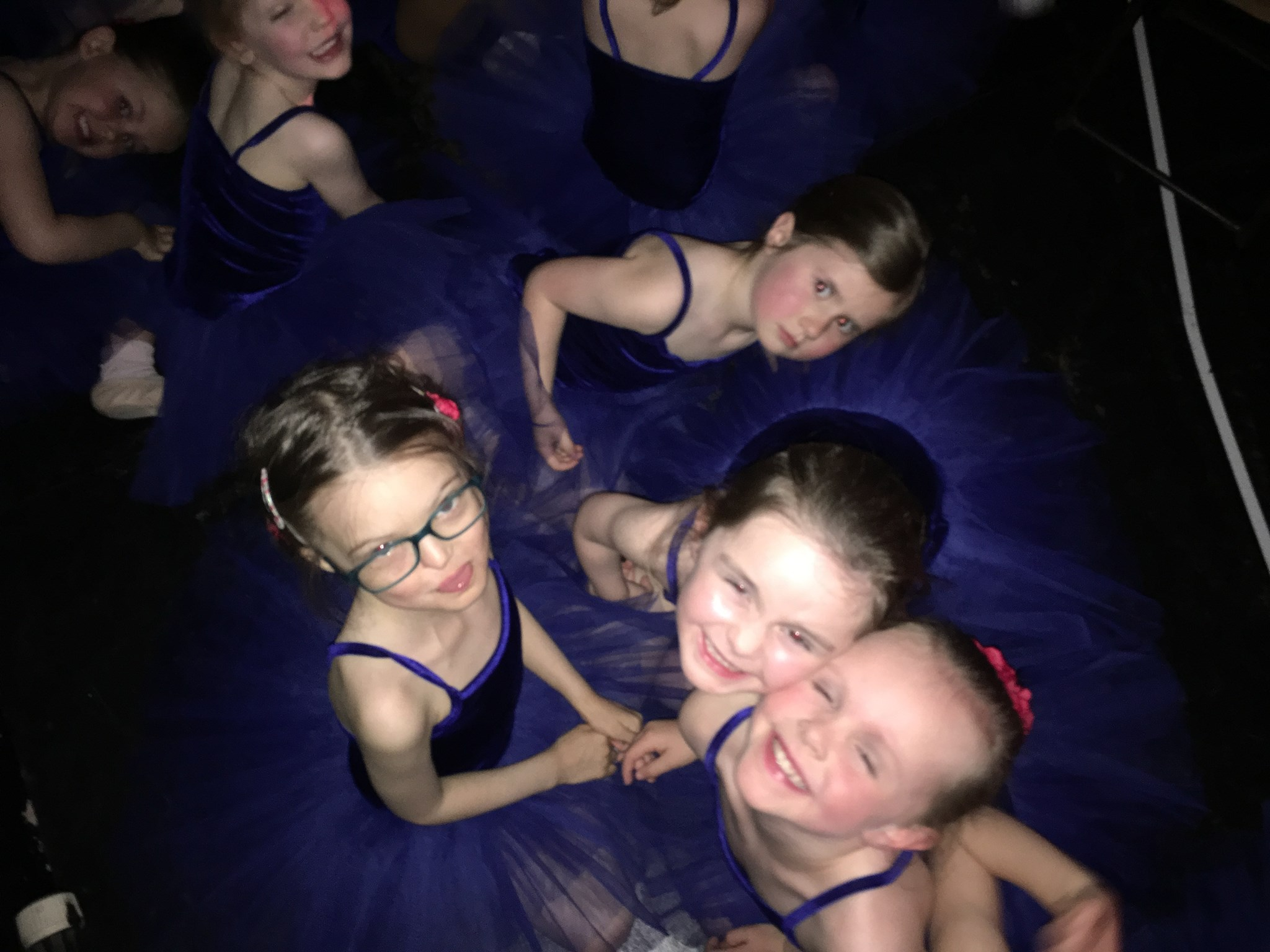 Backstage - pink ballet girls!