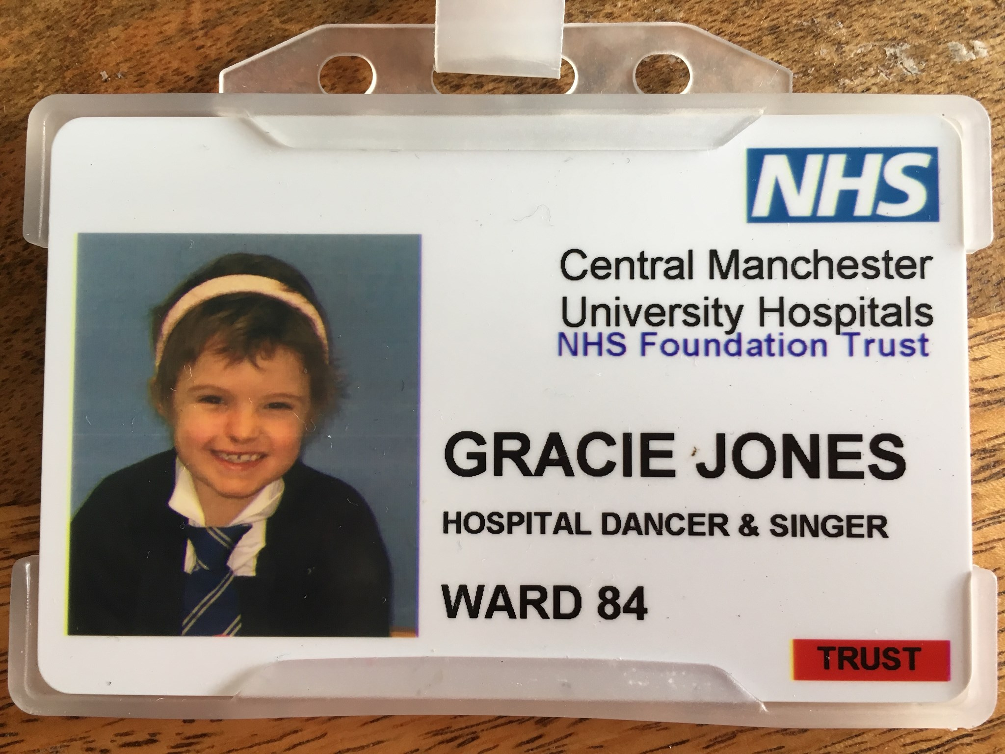 Updated hospital pass - hospital dancer and singer!