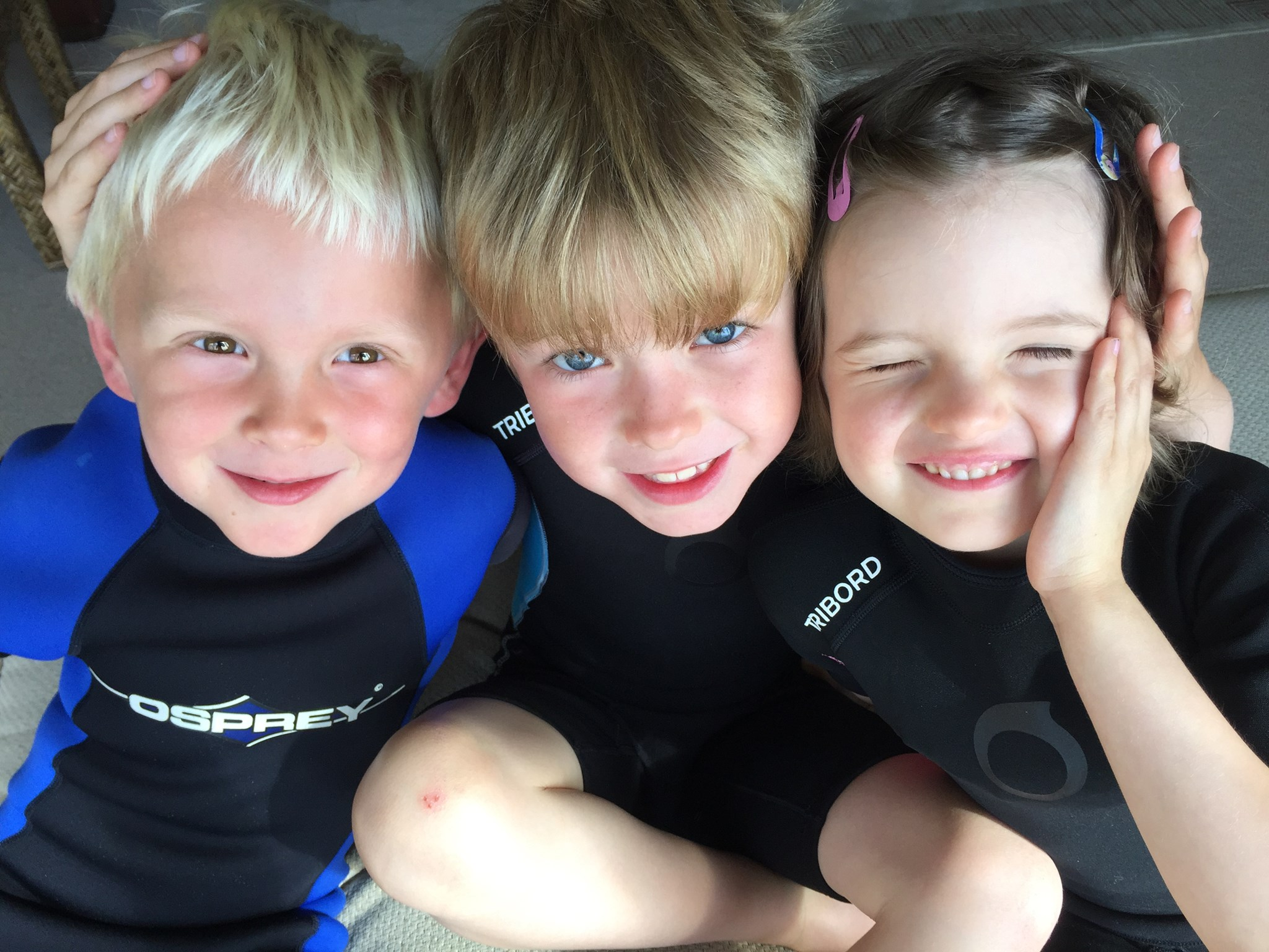 Ready for the beach - wetsuit gang!