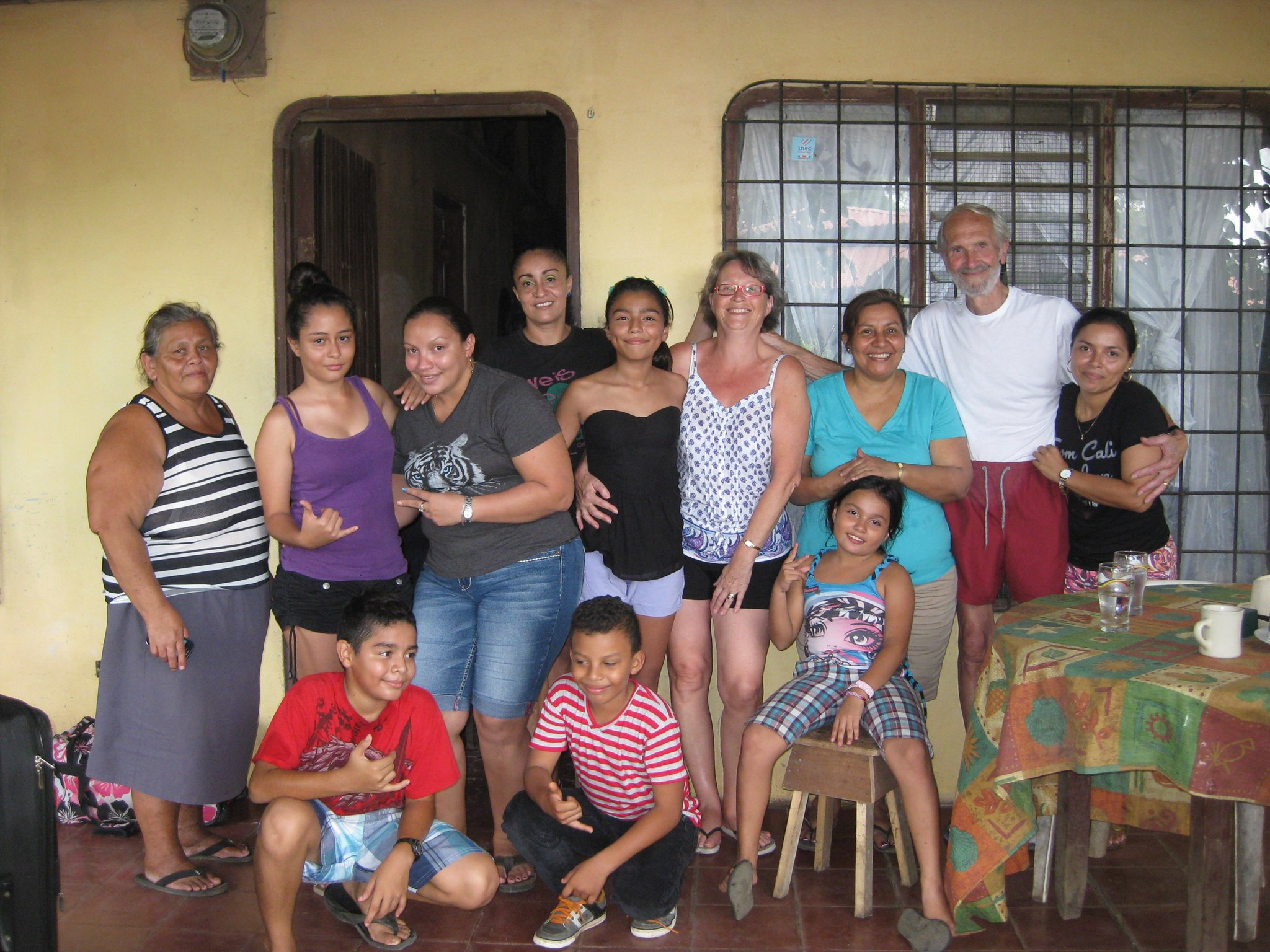 the day that dad met the whole Costa Rican family