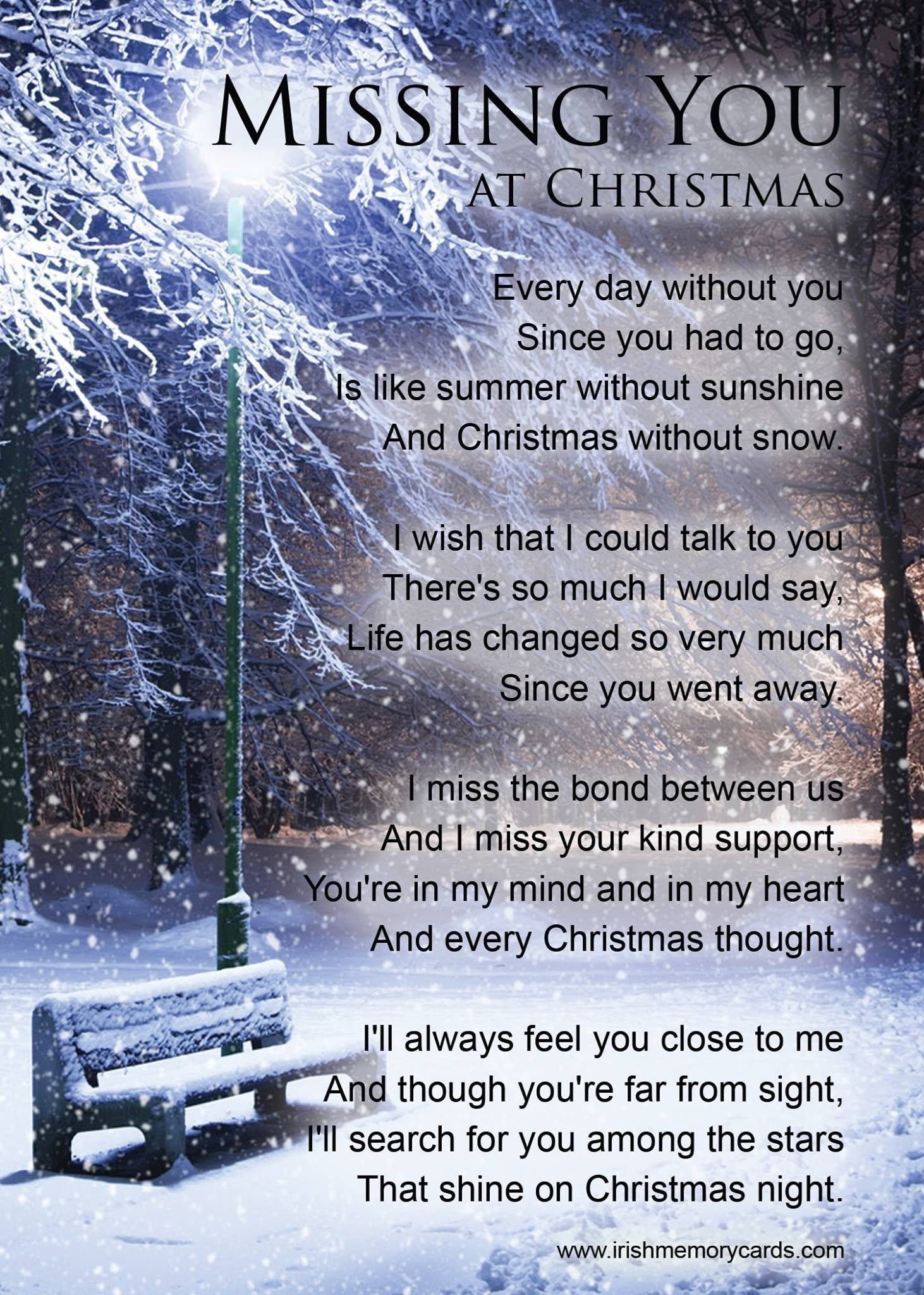 Christmas without you.