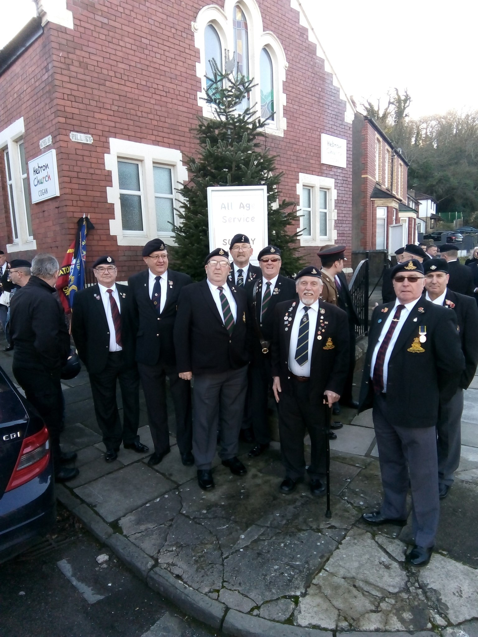 Cwmbran and District ex services Association and others. You did John proud lads! Thankyou