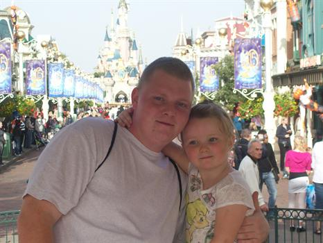 Paige & her Daddy October 2008