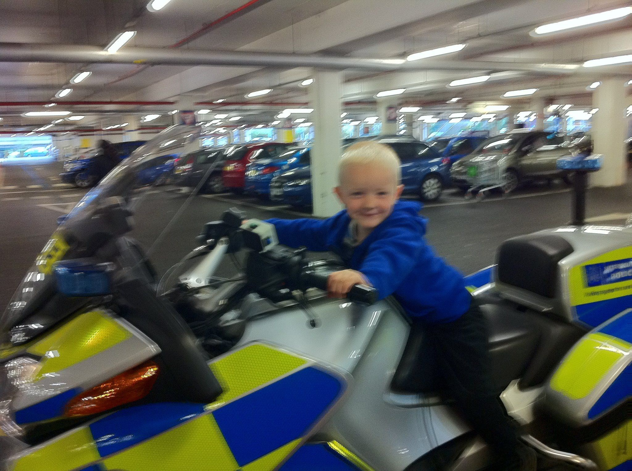 Pure cheekyness got him sitting on this bike! i wonder where he gets it from!