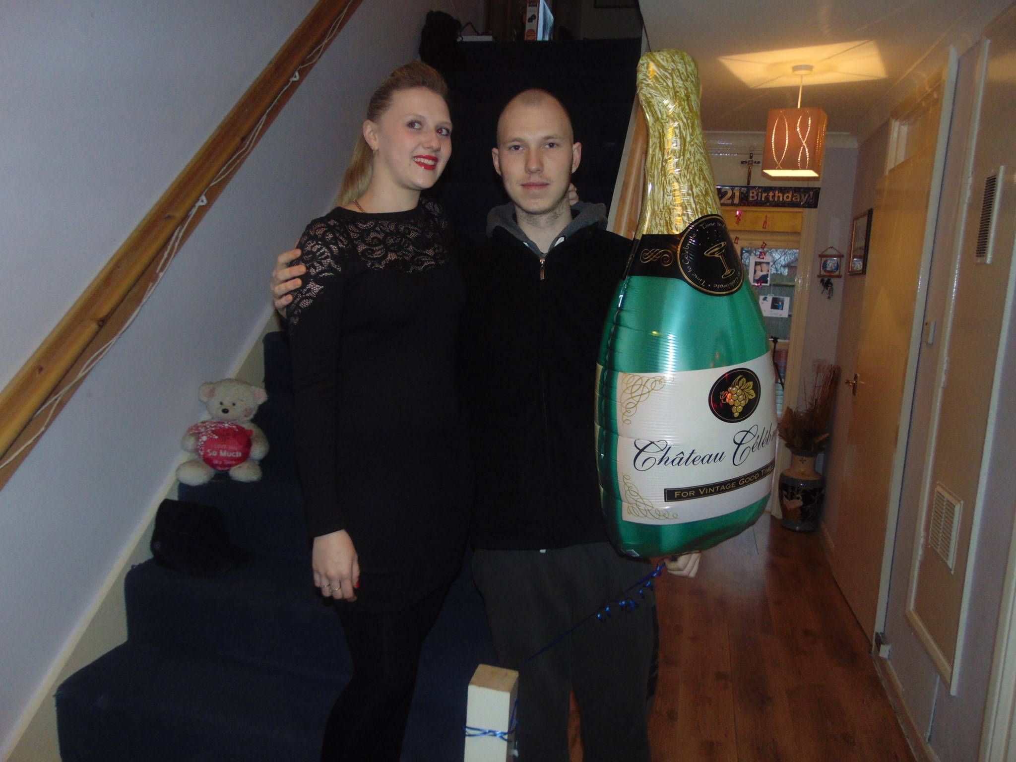 Jamie and Becca...Oh and the champers darling. x