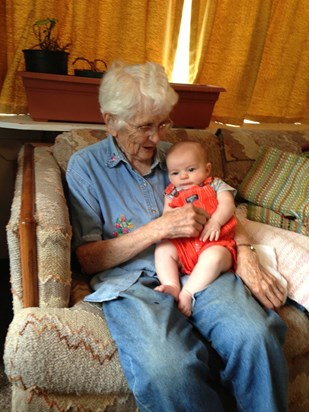 August 2013. G'ma Jo and Maxwell Bartley