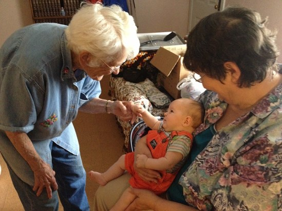 August 2013. G'ma Jo, Alice Bartley and Maxwell Bartley