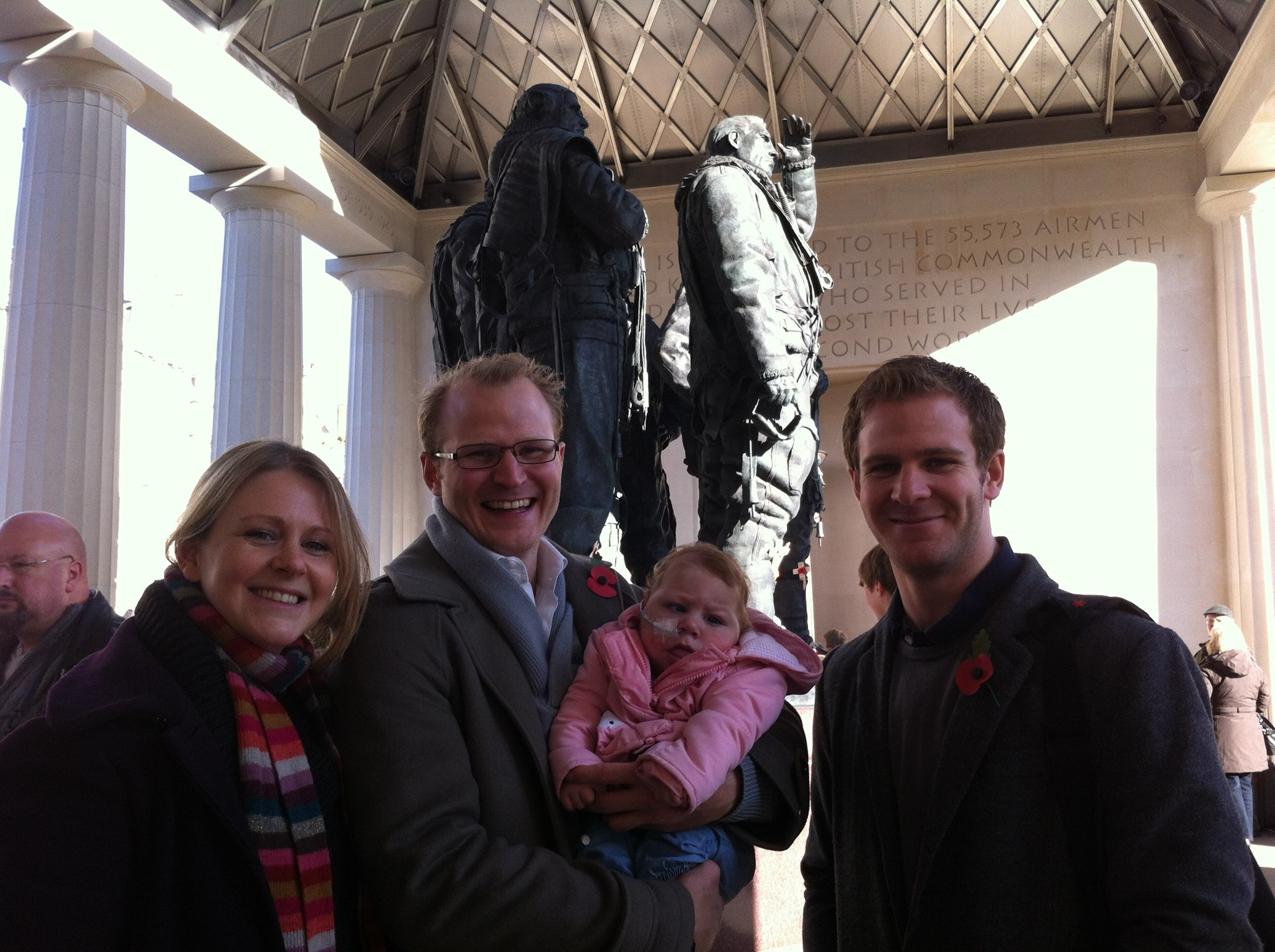 Visiting Bomber Command Memorial on Remembrance Sunday