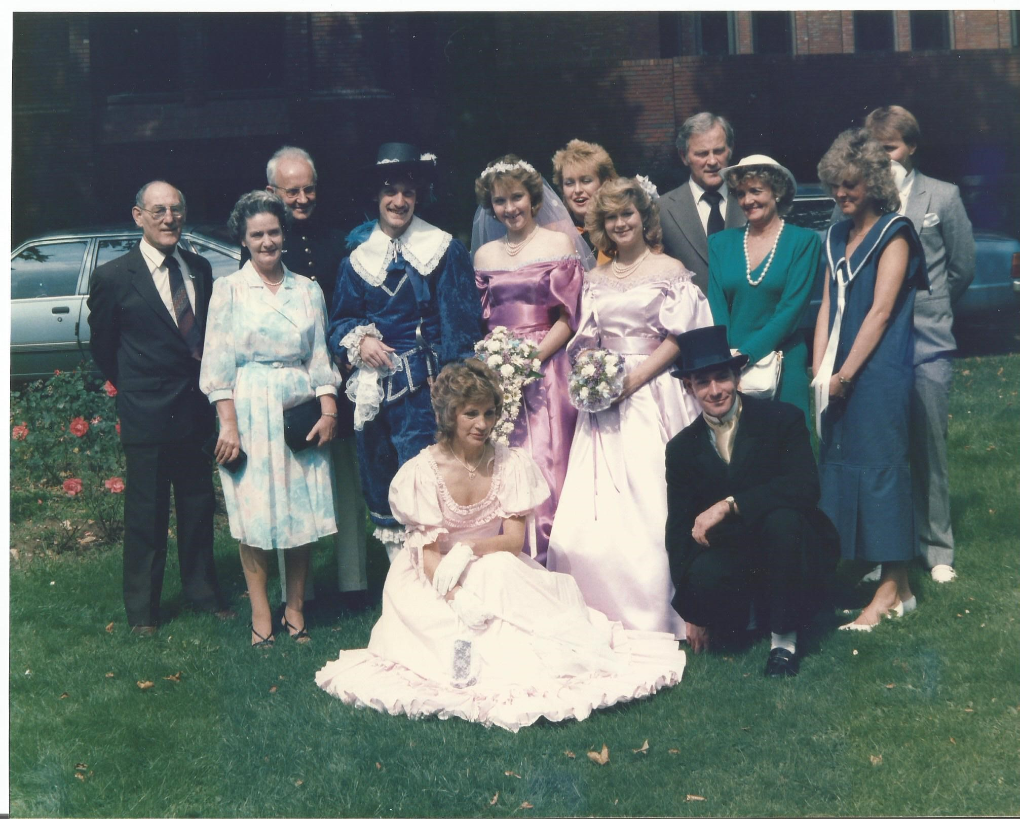 At our wedding 1986