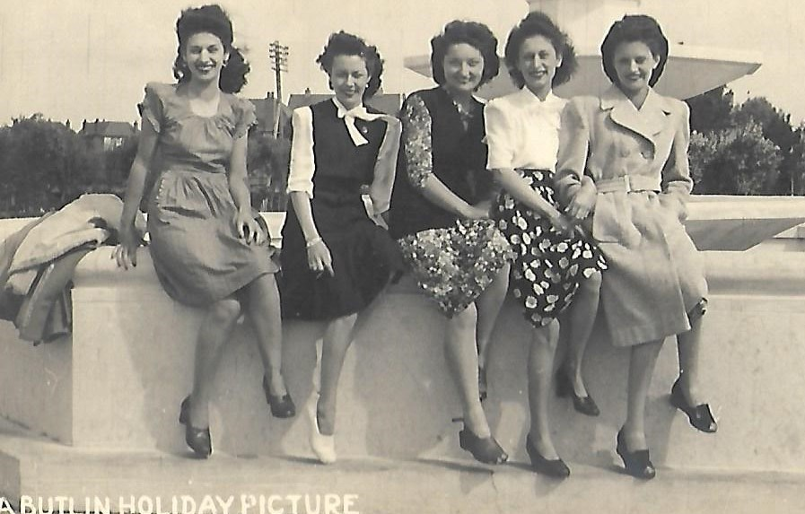 Vera with friends at Butlins.