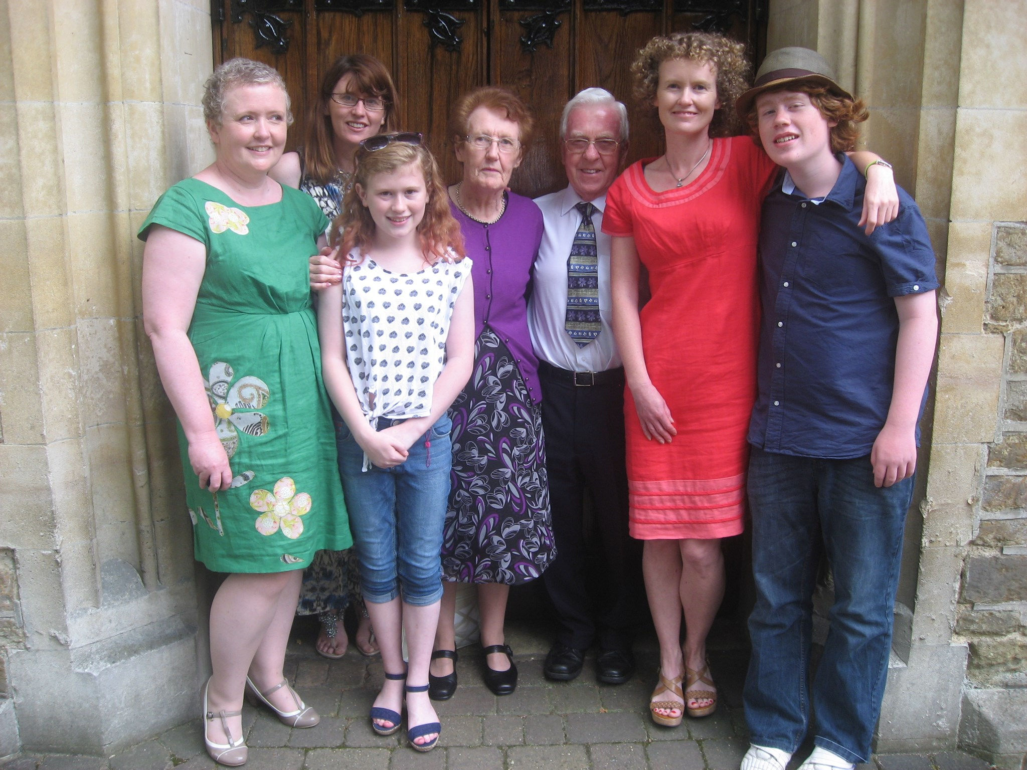 Mum + Dad's 50th wedding annversary, Aug 2014