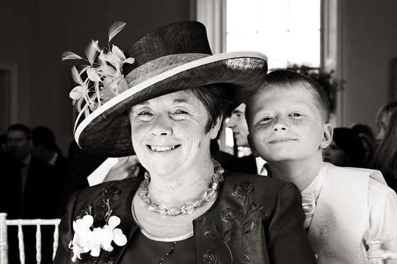 Margaret and her eldest grandson Jacob